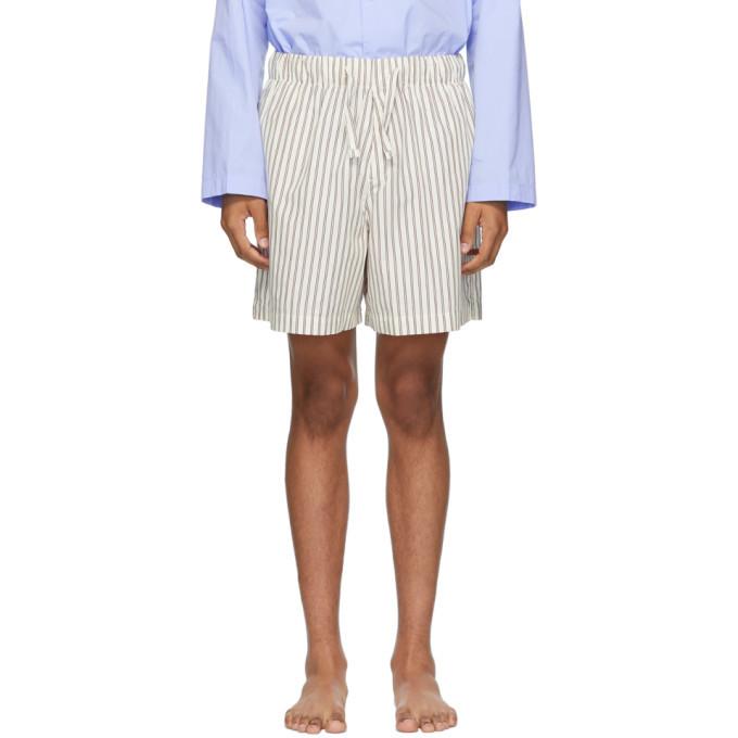 Photo: Tekla White and Brown Pyjama Shorts