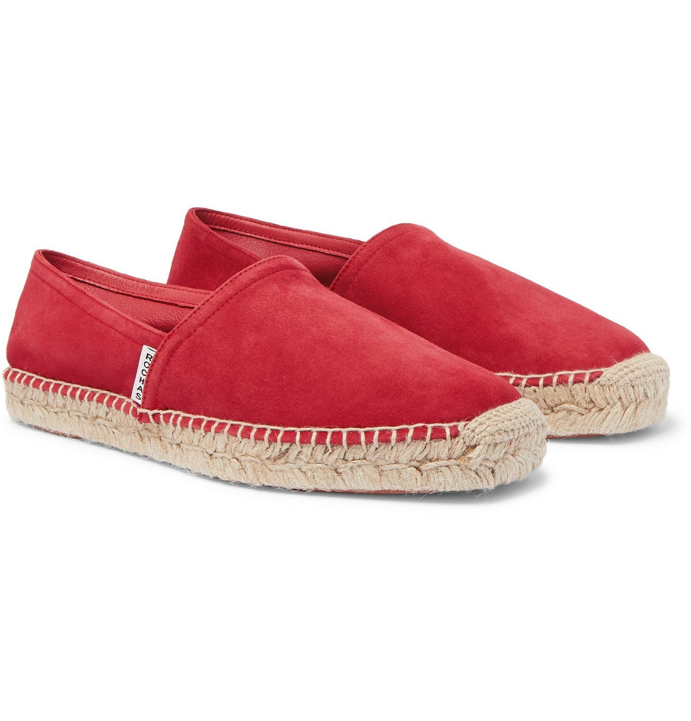 Photo: Rochas - Suede Espadrilles - Red