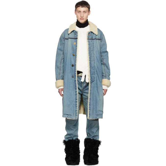 Photo: Sacai Blue Denim Coat