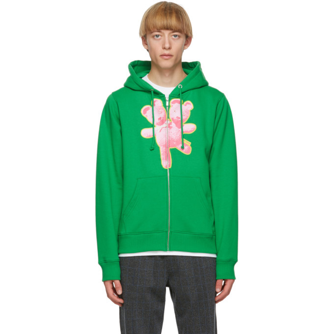 Photo: Marc Jacobs Green Heaven by Marc Jacobs Double-Headed Teddy Zip Hoodie