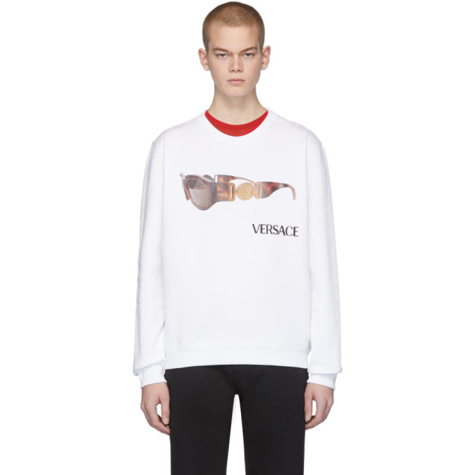 Versace White Biggie Sweatshirt