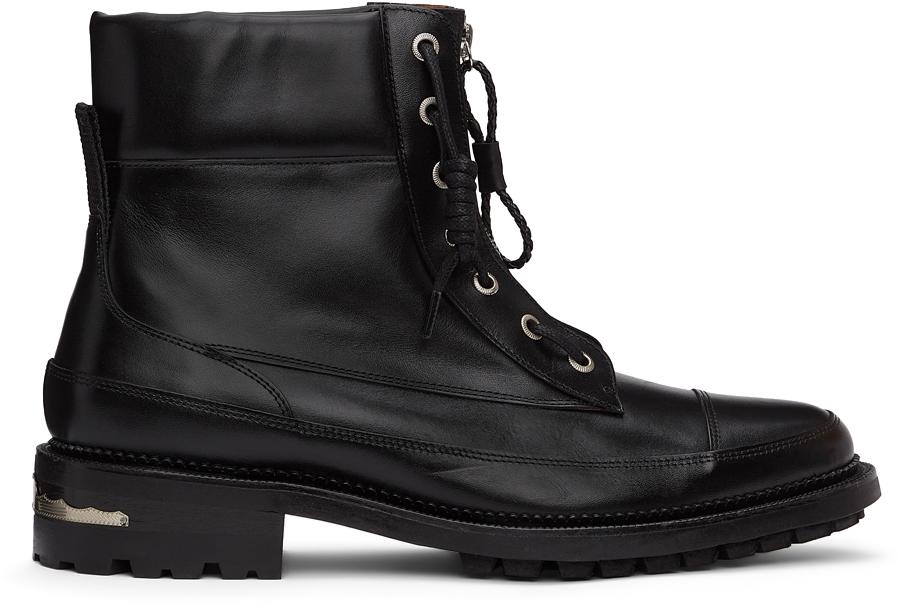 Photo: Toga Virilis Black Leather Lace-Up Boots