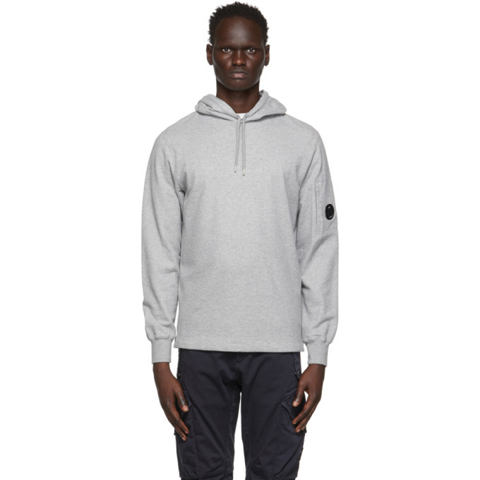 Photo: C.P. Company Grey Garment-Dyed Pullover Hoodie