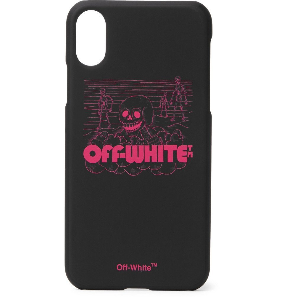 Photo: Off-White - Logo-Print iPhone X Case - Black