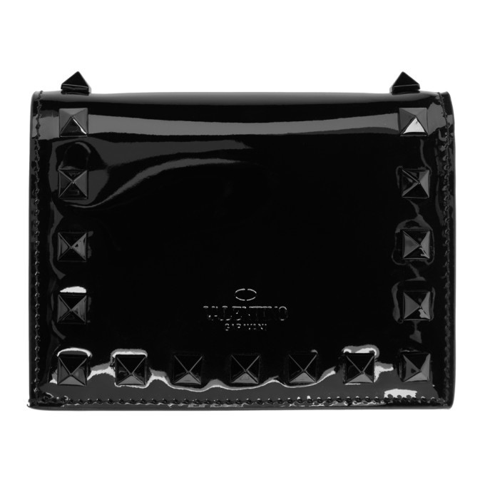 Photo: Valentino Black Valentino Garavani Rockstud Bifold Wallet