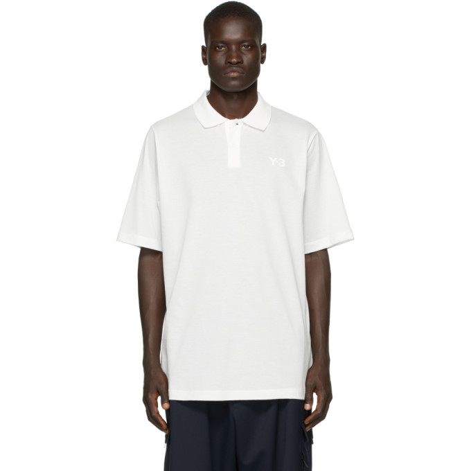 Photo: Y-3 White Classic Pique Polo