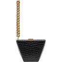 Stella McCartney Black Croc Chain Clutch
