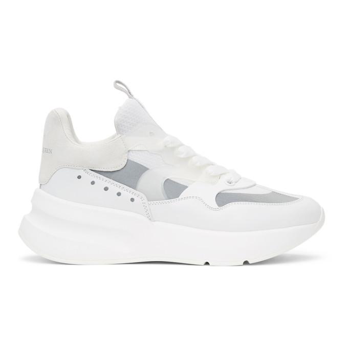 Photo: Alexander McQueen White Paneled Oversized Runner Sneakers