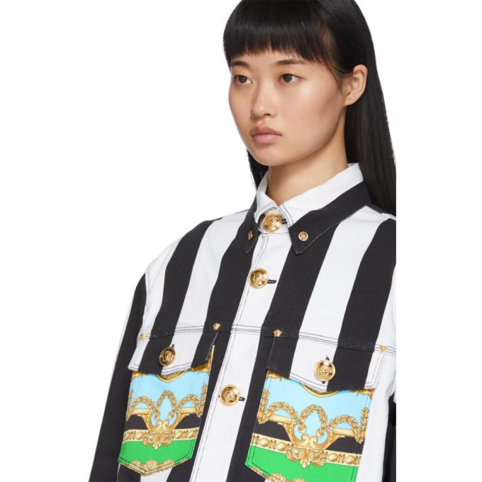 Versace White and Black Baroque Shirt