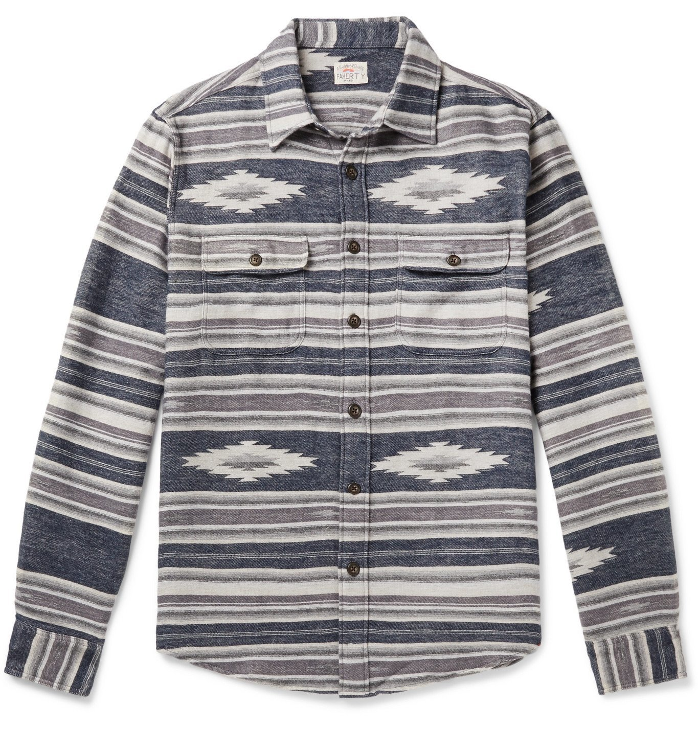 Photo: Faherty - Canyon Cotton-Jacquard Overshirt - Gray