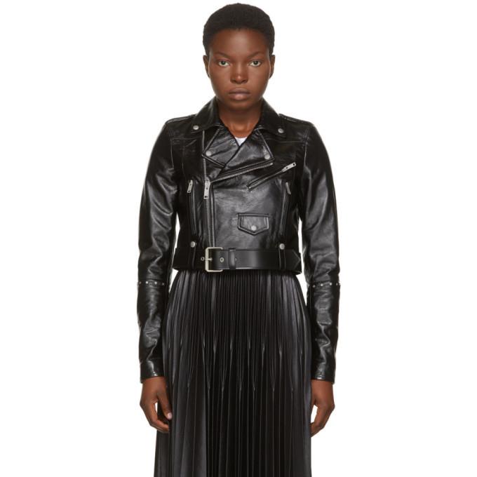 Photo: Givenchy Black Leather Studded Biker Jacket