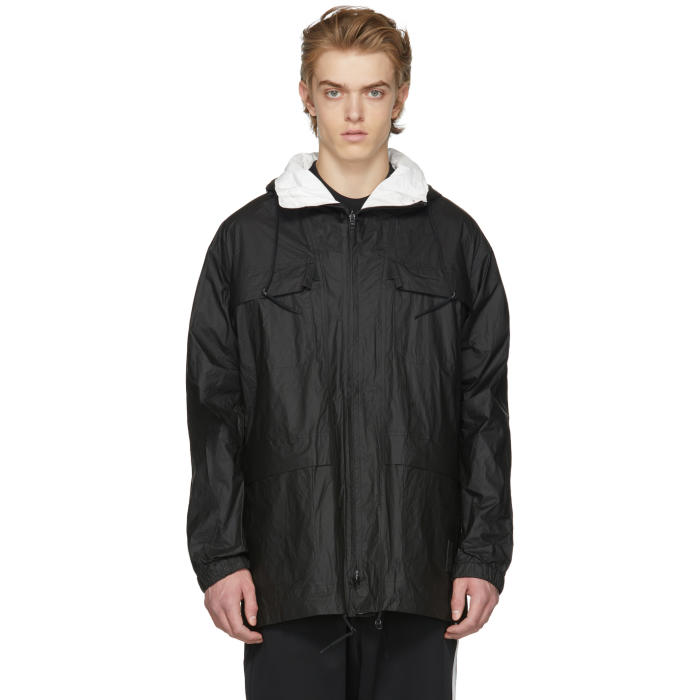 Photo: Y-3 Reversible Black and White Tyvek Jacket