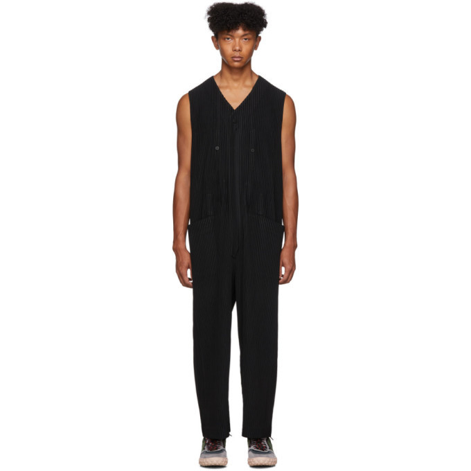 Photo: Homme Plisse Issey Miyake Black Pleated Overalls