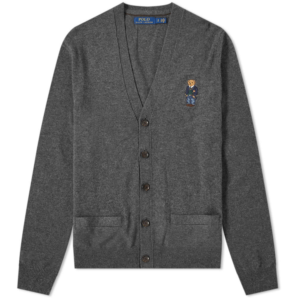 Photo: Polo Ralph Lauren Small Bear Embroidered Cardigan