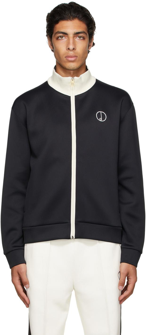 Photo: Dunhill Black 'D' Track Zip-Up Jacket