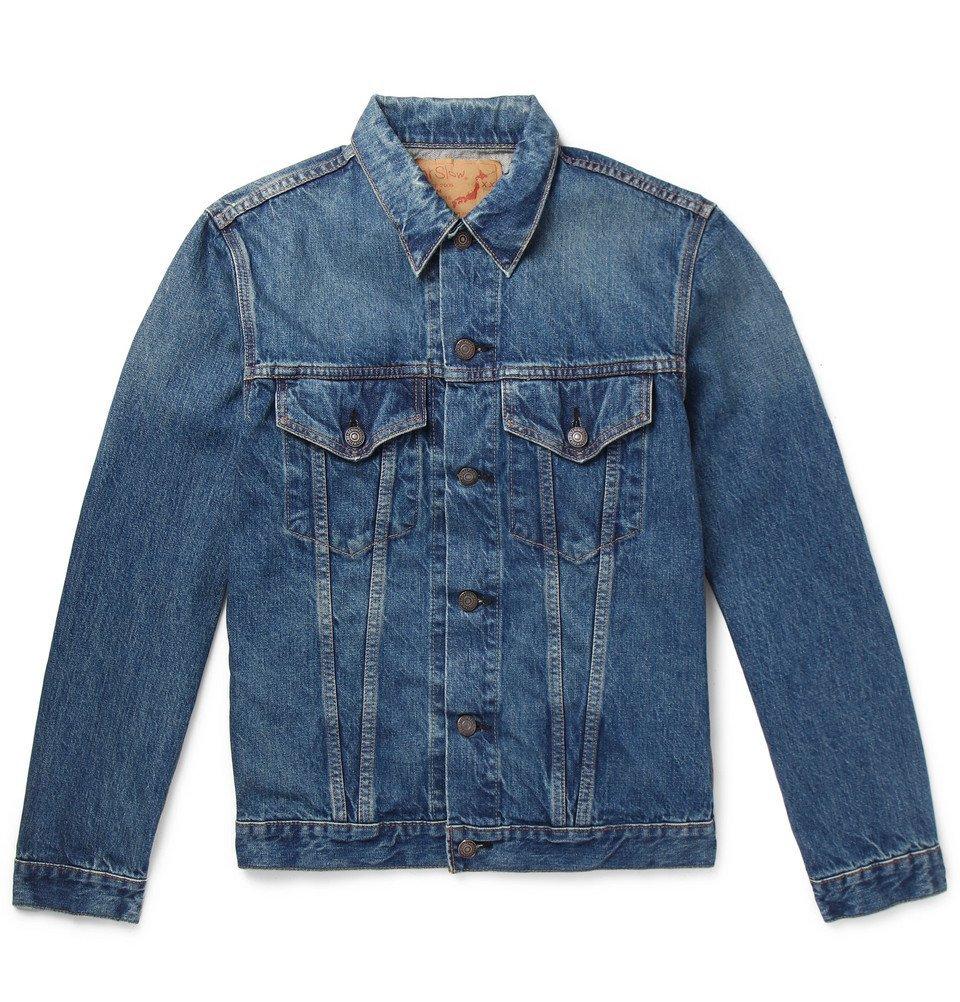 Photo: OrSlow - Washed-Denim Jacket - Blue