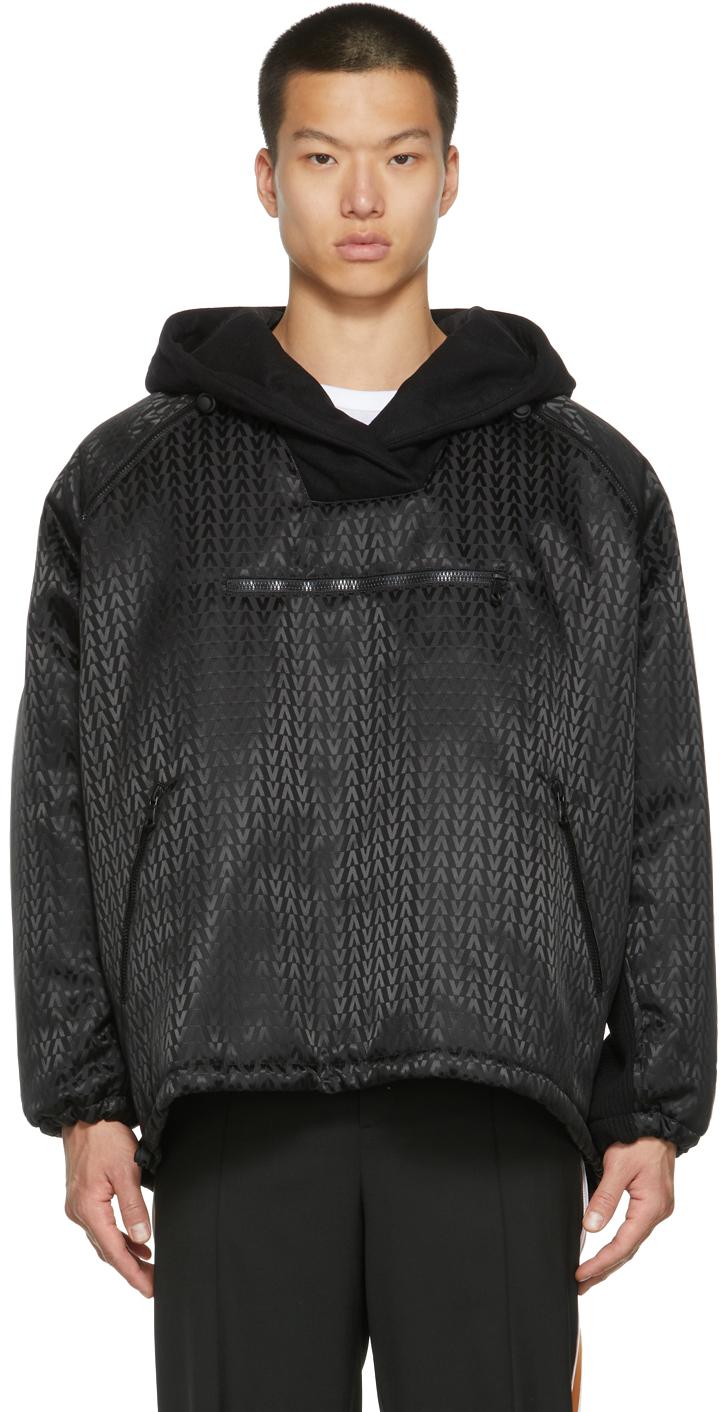 Photo: Valentino Black Nylon Logo Jacket