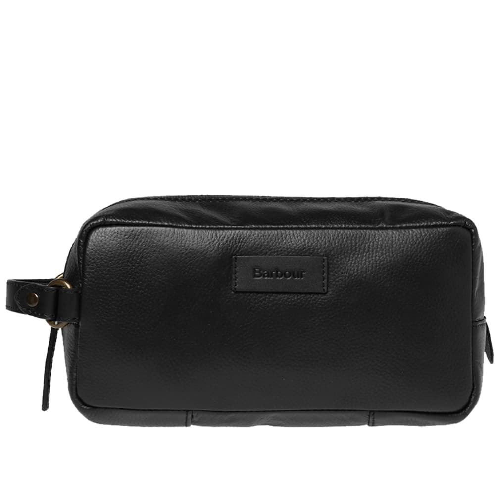 Photo: Barbour Compact Leather Washbag