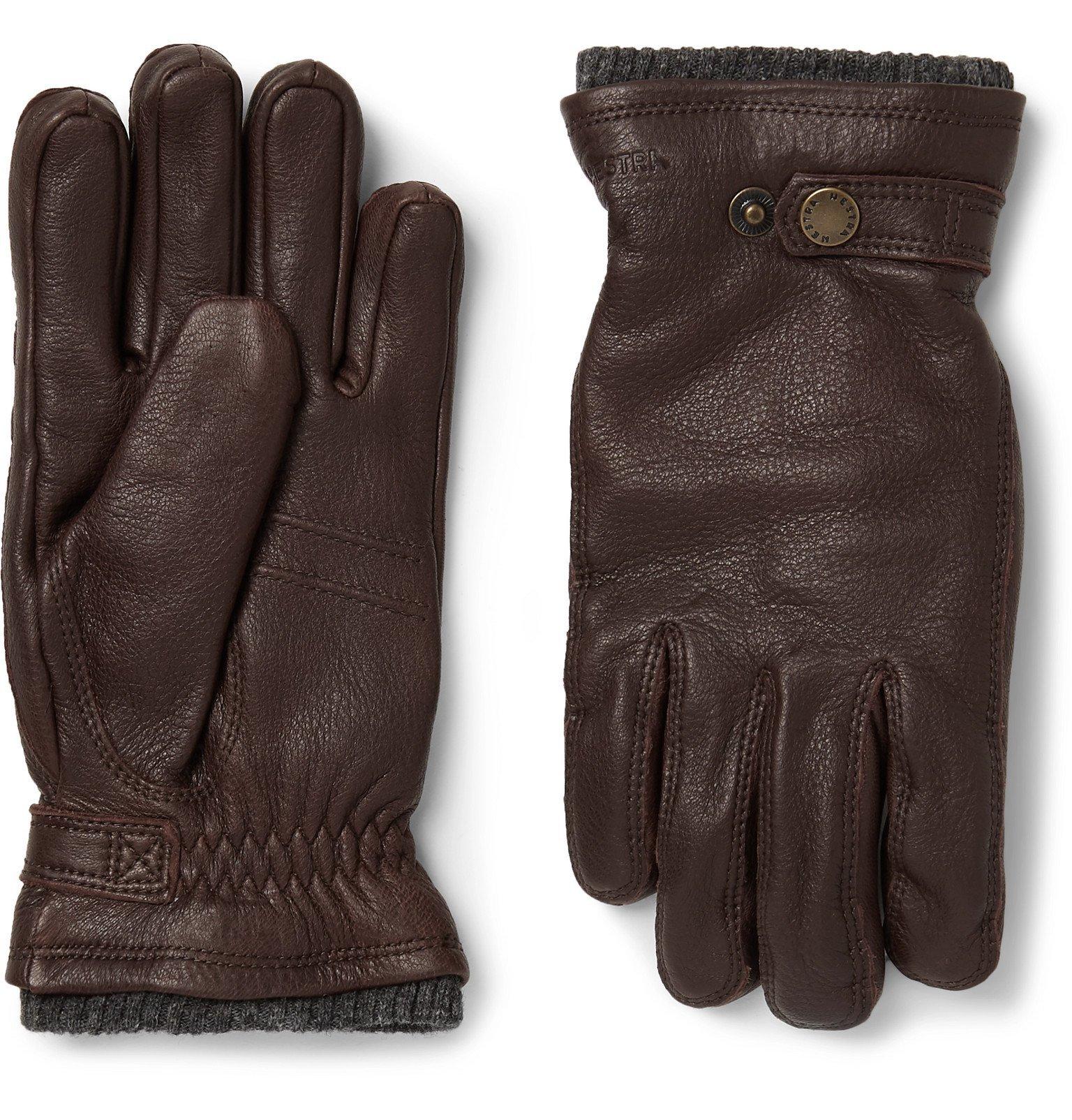Photo: Hestra - Utsjö Fleece-Lined Full-Grain Leather Gloves - Brown