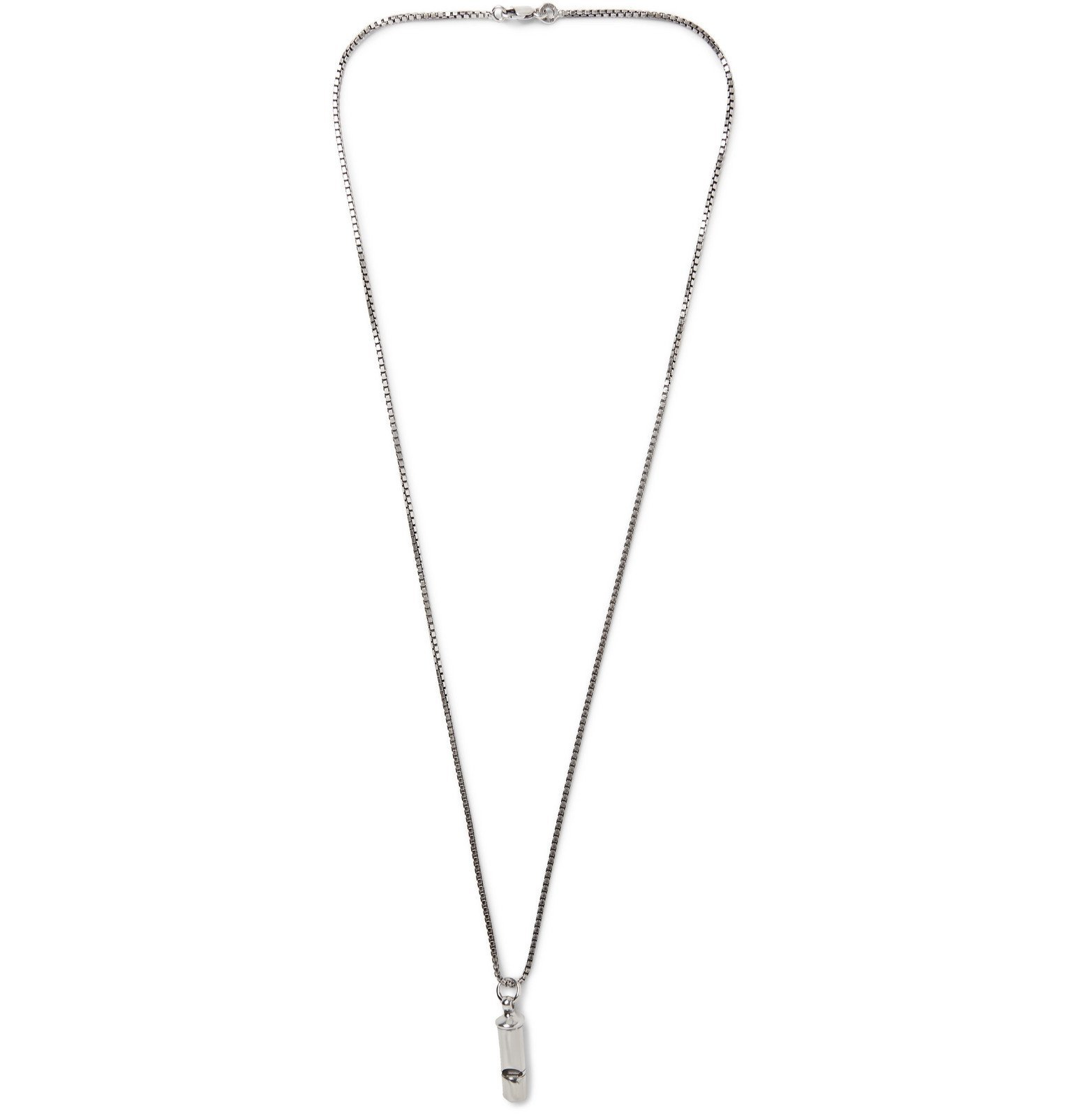 Photo: Bottega Veneta - Burnished Sterling Silver Necklace - Silver