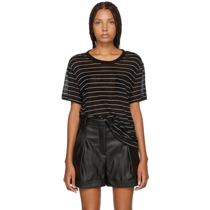alexanderwang.t Black Striped Jersey T-Shirt