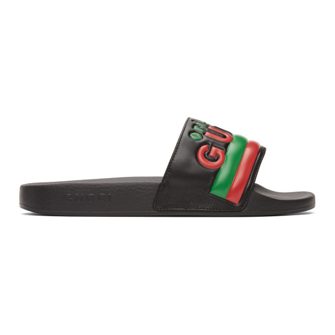 Photo: Gucci Black Original Gucci Pool Slides