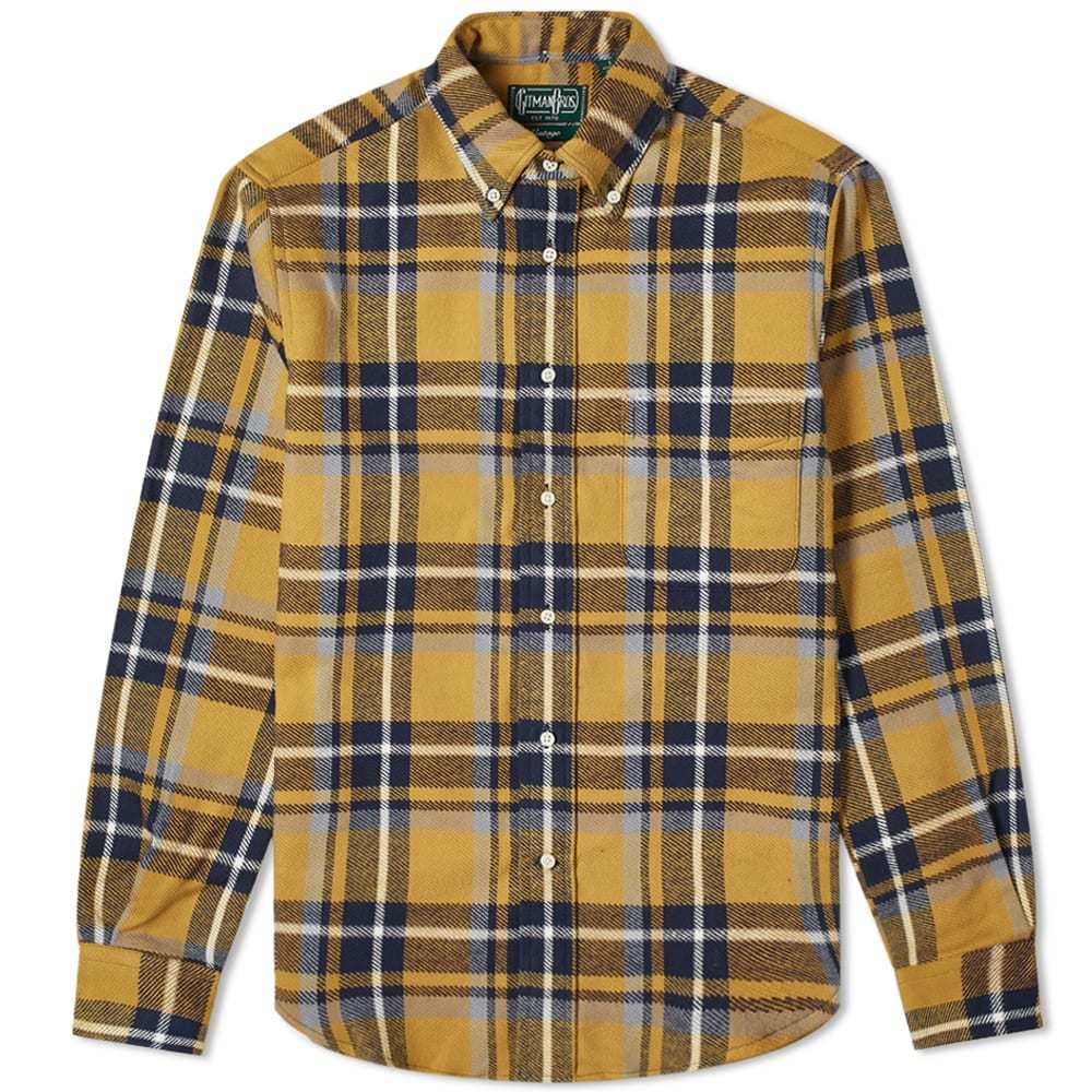 Photo: Gitman Vintage Button Down Rough Check Flannel Shirt