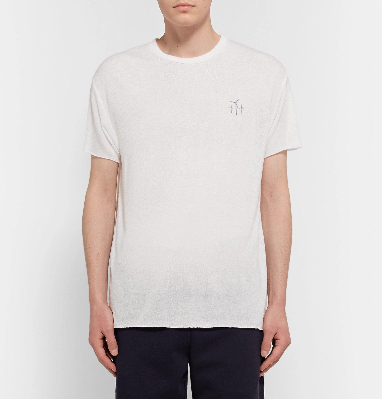 The Elder Statesman - Palm Springs Printed Cashmere and Silk-Blend T-Shirt - Neutrals