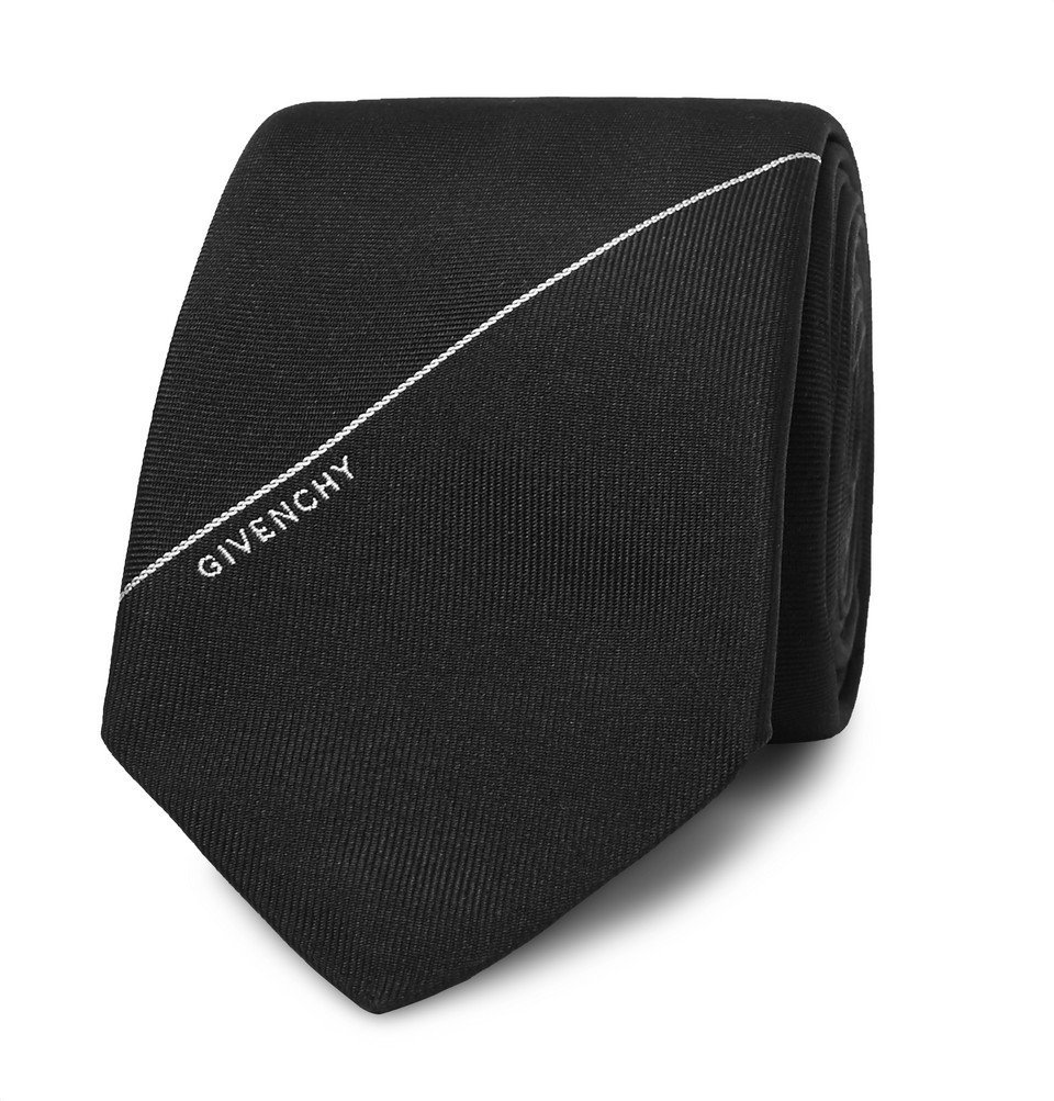 Photo: Givenchy - 6.5cm Embroidered Silk-Twill Tie - Black