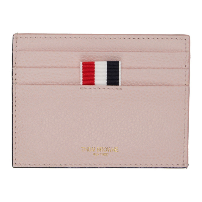 Photo: Thom Browne Pink and Green Bicolor Card Holder