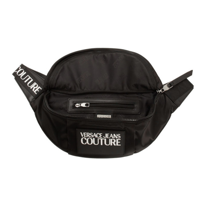 Versace Jeans Couture Black Logo Bum Bag