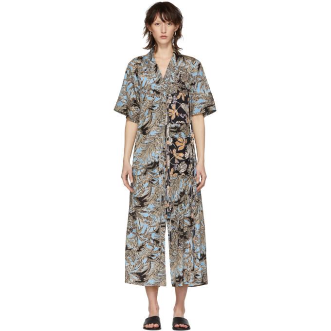 3.1 Phillip Lim Multicolor Patchwork Long Shirt