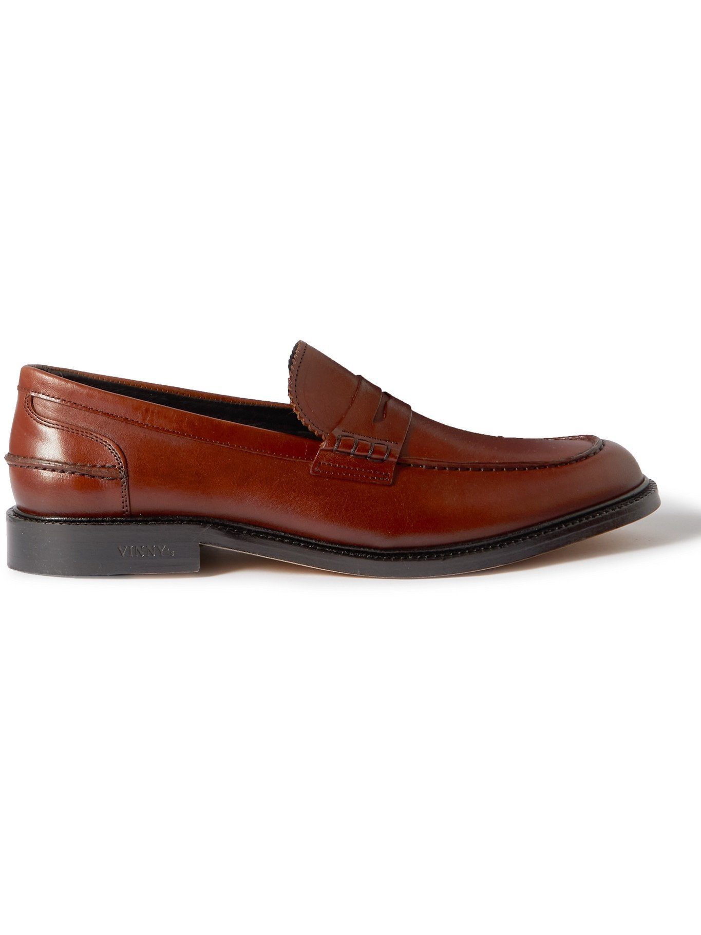 Photo: VINNY'S - Townee Leather Penny Loafers - Brown - 40