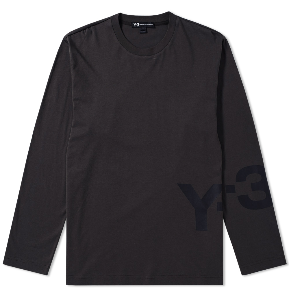 Photo: Y-3 Long Sleeve Logo Tee Black