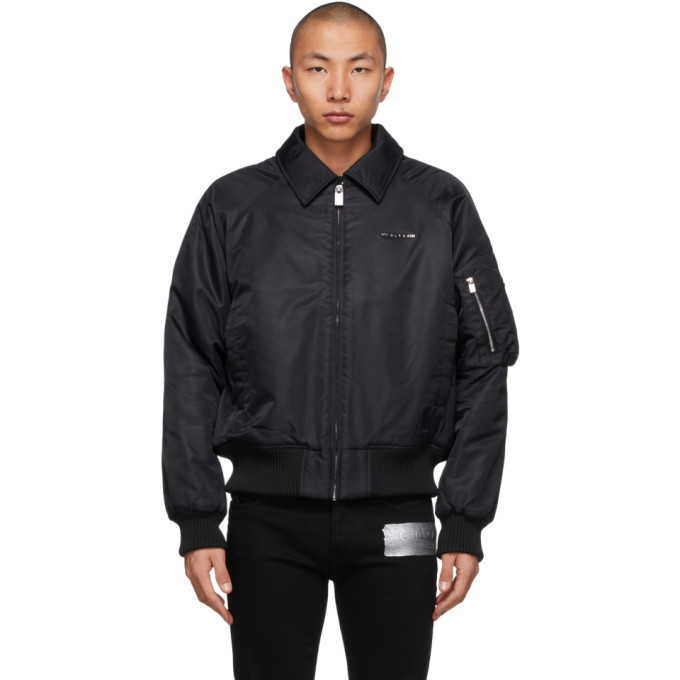 Photo: 1017 ALYX 9SM Black Nylon Bomber Jacket