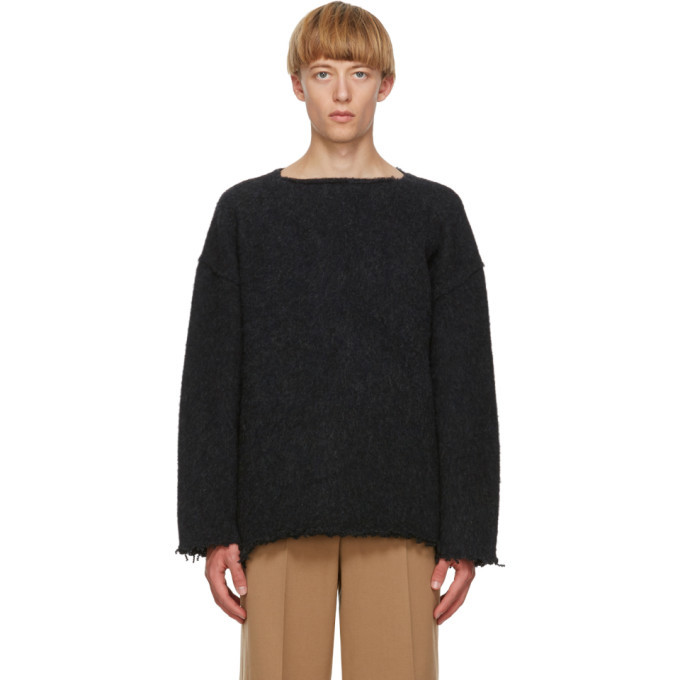 Photo: Jil Sander Navy Wool Fringe Sweater