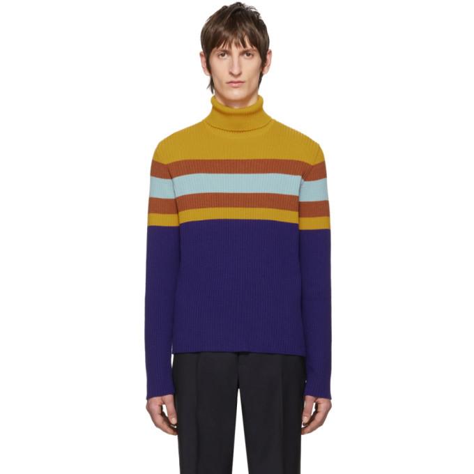 Photo: Gucci Multicolor Wool Striped Turtleneck