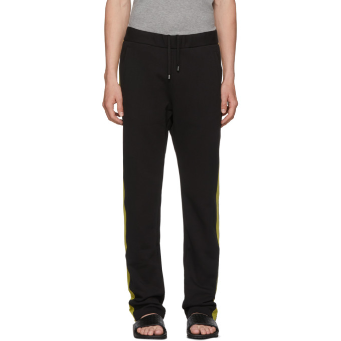 Photo: Bottega Veneta Black and Green Colorblock Track Pants