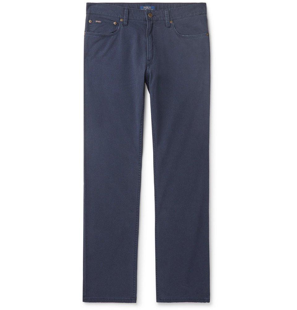 Photo: Polo Ralph Lauren - Slim-Fit Stretch Cotton-Twill Chinos - Navy