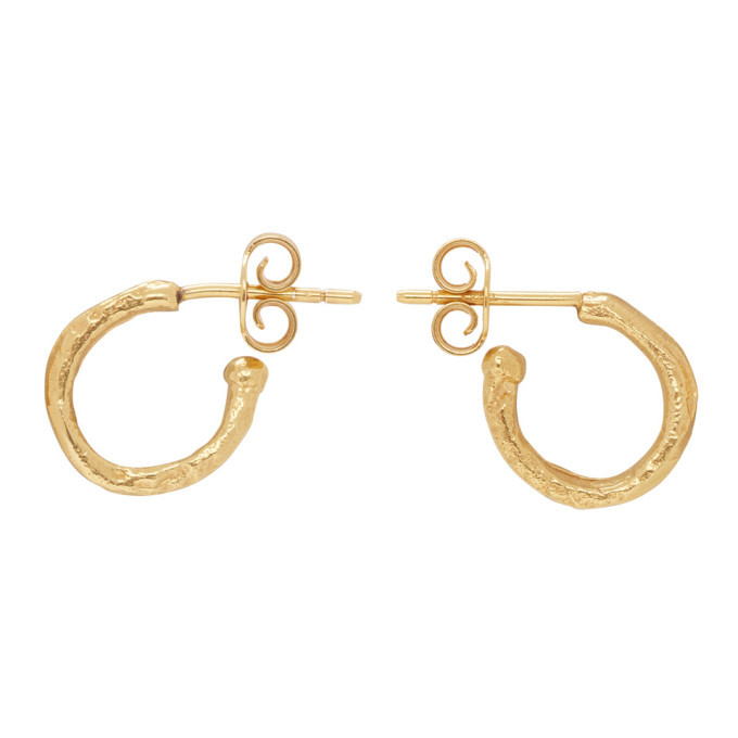 Photo: Alighieri Gold The Morning Hour Hoop Earrings