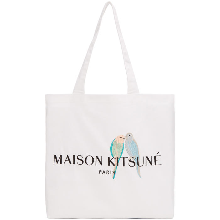 Photo: Maison Kitsuné White Lovebirds Tote