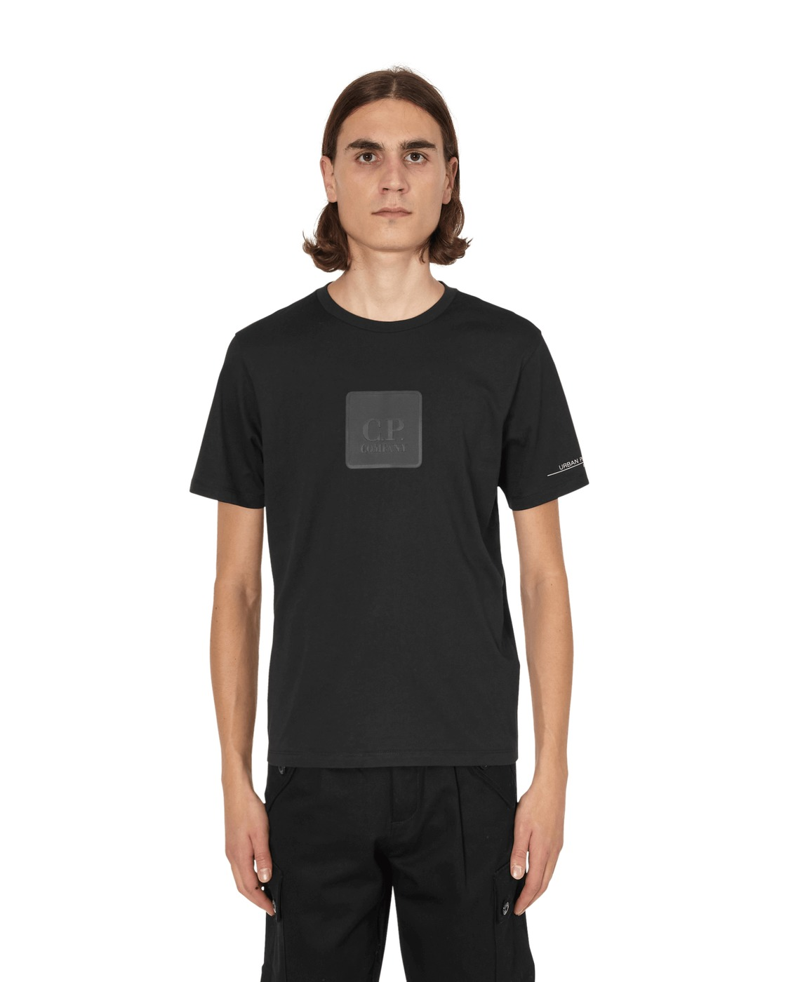 C.P. Company Jersey 30/1 Logo Plaque T Shirt Black