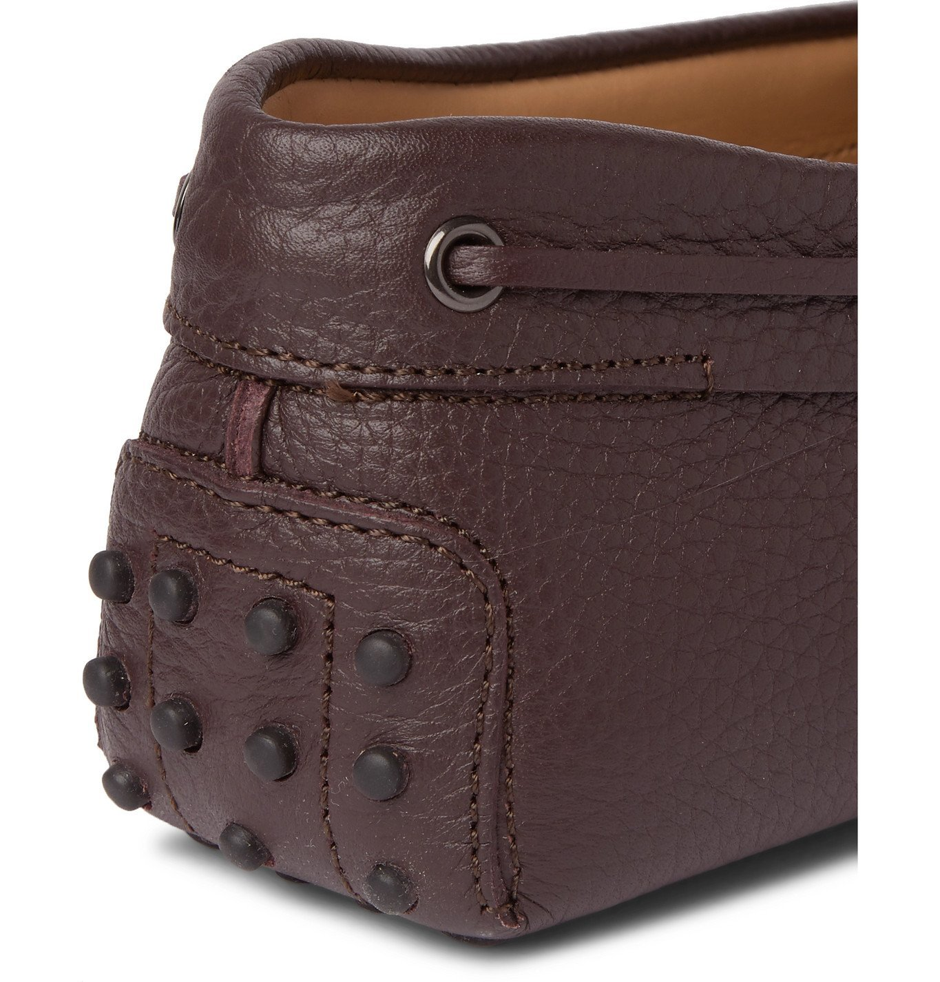 Tod's - Gommino Full-Grain Leather Driving Shoes - Burgundy