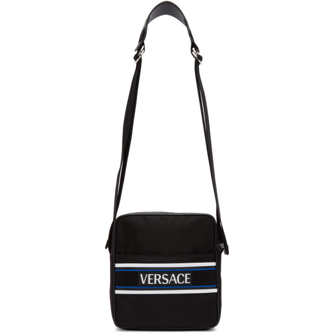 Photo: Versace Black Logo Messenger Bag