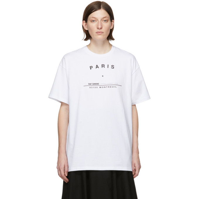 Raf Simons White Big Fit Tour T-Shirt