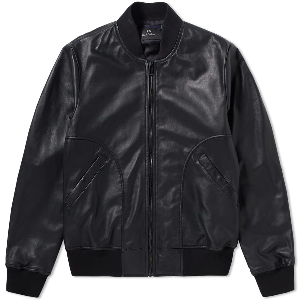 Photo: Paul Smith Leather Bomber Jacket