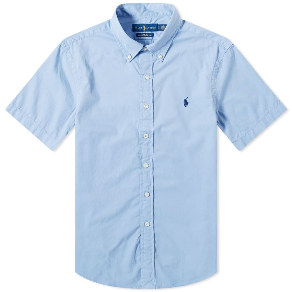 Photo: Polo Ralph Lauren Short Sleeve Garment Dyed Button Down Shirt