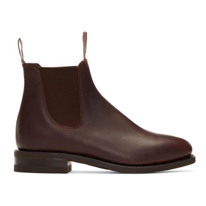 Photo: R.M. Williams Burgundy Comfort Craftsman Chelsea Boots
