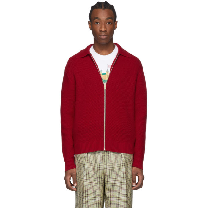 Photo: Casablanca Red Knitted Tracksuit Top
