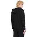 Sunspel Black Loopback Zip-Up Hoodie